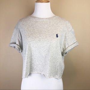Polo Ralph Lauren• Grey Crop Top